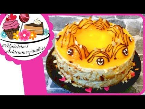 Sommerliche Bienentorte I Mit Pfirsich Aprikosen Creme I Torte Im