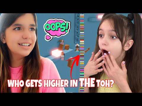 WHO CAN COMPLETE THE MOST STAGES IN THE TOWER OF HELL? | Emily vs Evelyn Gaming |