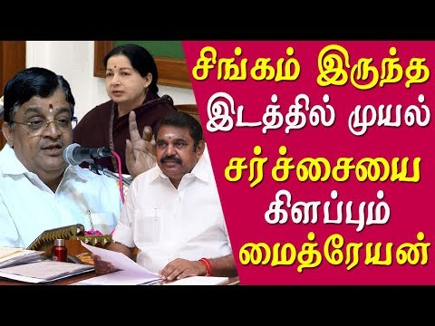 tamil news live மீண்டும் சர்ச்சையை கிளப்பும் Maitreyan அம்மா இடத்தில அணிலா admk into another controversy tamil news live  Rajya Sabha MP and aiadmk official V Maitreyan who created a controversy on eps ops merger through facebook post now has given another statement hitting starit of EPS, in his speech at a government function yesterday told that only squirrels are there in the place of jayalalitha   More tamil news, tamil news today, latest tamil news, kollywood news, kollywood tamil news Please Subscribe to red pix 24x7 https://goo.gl/bzRyDm #tamilnewslive sun tv news sun news live sun news   red pix 24x7 is online tv news channel and a free online tv