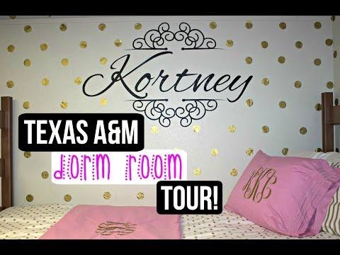TEXAS A&M UNIVERSITY DORM ROOM TOUR!