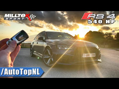 540HP AUDI RS4 B9 REVIEW POV on AUTOBAHN (No Speed Limit) & ROAD by AutoTopNL