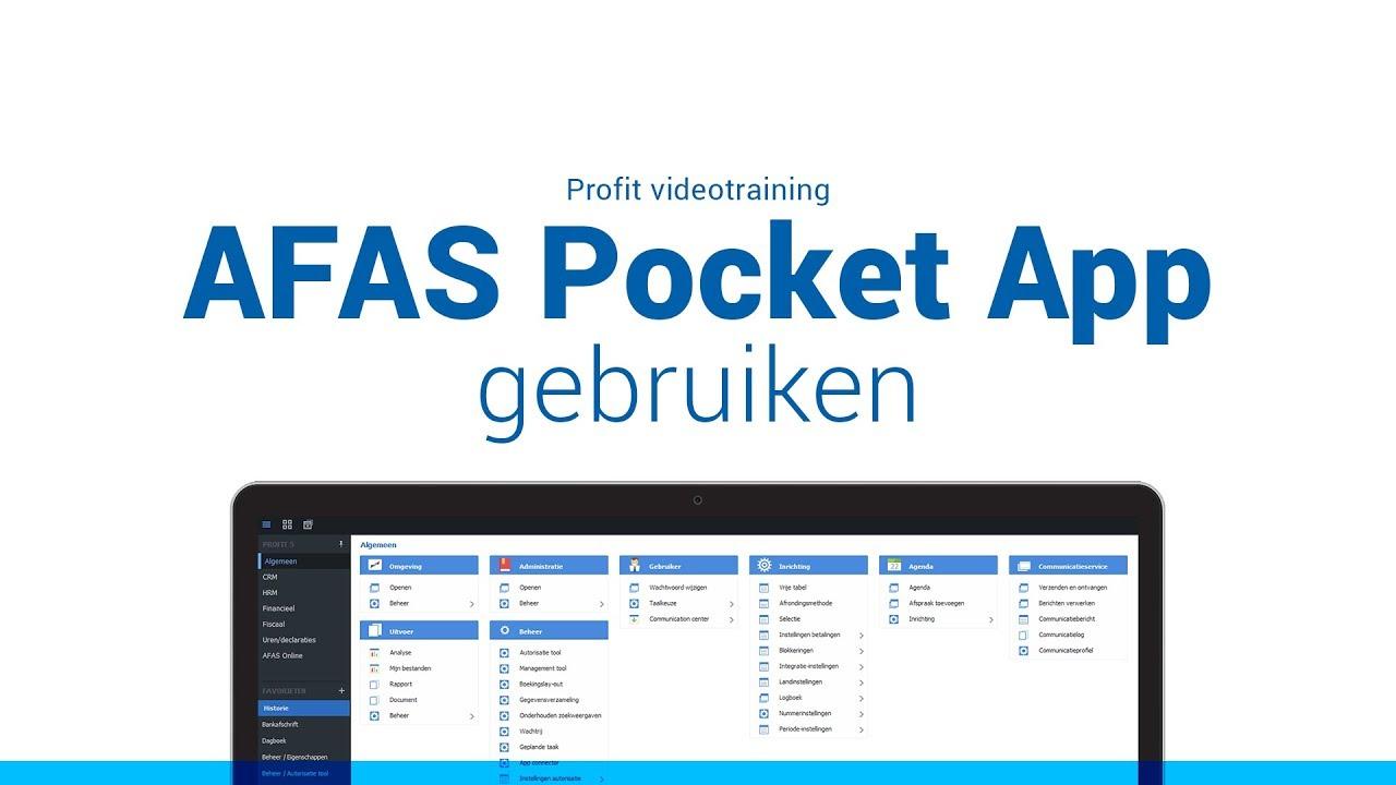 AFAS Pocket App gebruiken