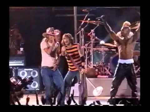 Aerosmith Walk This Way with Run DMC and Kid Rock Camden 2002