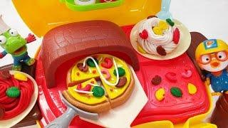 똘똘이 화덕피자 요리 가게 장난감 뽀로로 피자 스파게티 만들기 점토놀이 Play Doh Cooking Pizza Spaghetti Maker PlayDough shop toy