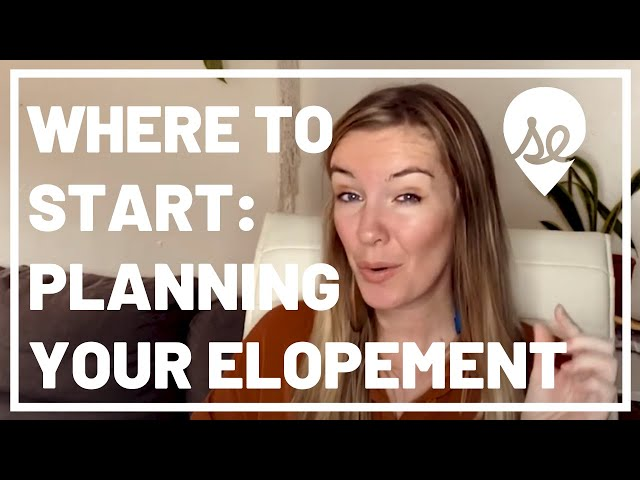 When to Start Planning Your Elopement Wedding