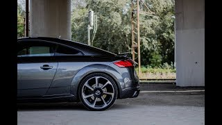 "2018 Audi TT RS (400HP) - ""baby R8"" is making launch-control burnout!!!"