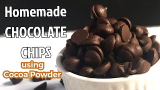 How to make Homemade chocolate Chips using cocoa powder