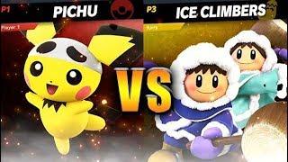 Pichu vs Ice Climbers