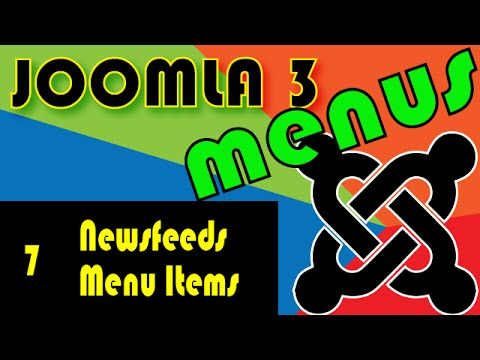 Joomla 3 Tutorials: News feeds Menu Items