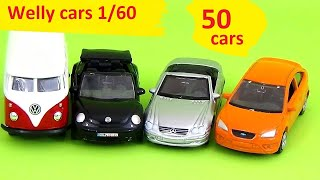 CarsToys 50 Surprise Eggs Welly Cars 1:60 scale unboxing cars metal /review cars/ cars for kids thumbnail