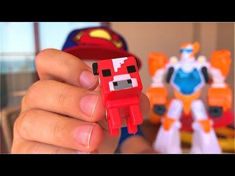 ТРАНСФОРМЕРЫ Автоботы МАЙНКРАФТ Игрушки для мальчиков Minecraft Transformers for kids Toys for boys