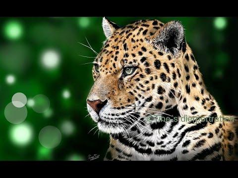 Realistic jaguar painting in ArtRage [speedpaint]