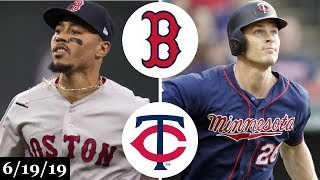 Boston Red Sox vs Minnesota Twins - Full Game Highlights | June 19, 2019 | 2019 MLB Season