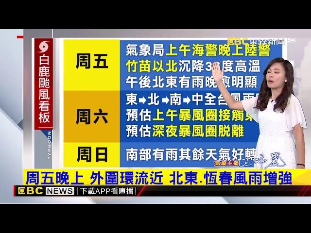 氣象時間 1080822 晚間氣象 東森新聞