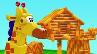 🐸🤖 Animal Mechanicals 🐸🤖  Giraffe 🐸 Full Episode HD | Cartoons for Kids
