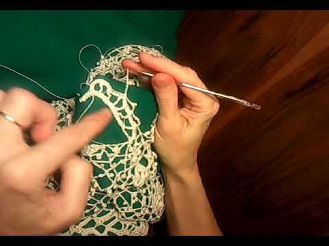 Вязаное платье крючком свадебное