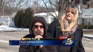 Reporter interrupted during live broadcast (FHRITP)