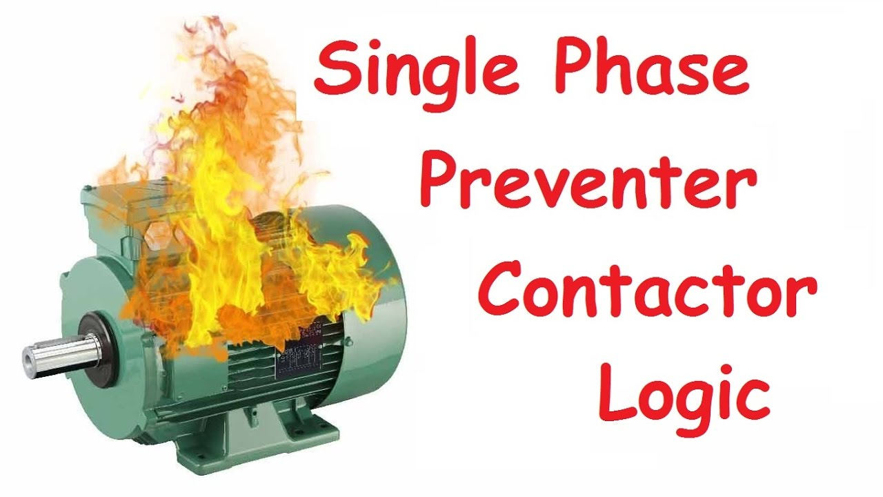 single phase preventer contactor logic , phase loss protection  YouTube