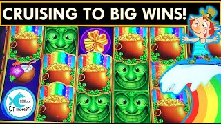 🦄CRUISE SHIP WINS ON CUTEST GAME🍀 & BIG WIN ON RIVER DRAGONS SLOT MACHINE, LEPRECHAUN'S GOLD!