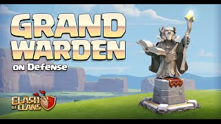 Clash of Clans - New Hero on DEFENSE! Grand Warden Gameplay! (Town Hall 11 Update)