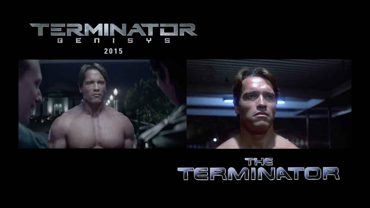 movie clips comparison between terminator11984 and