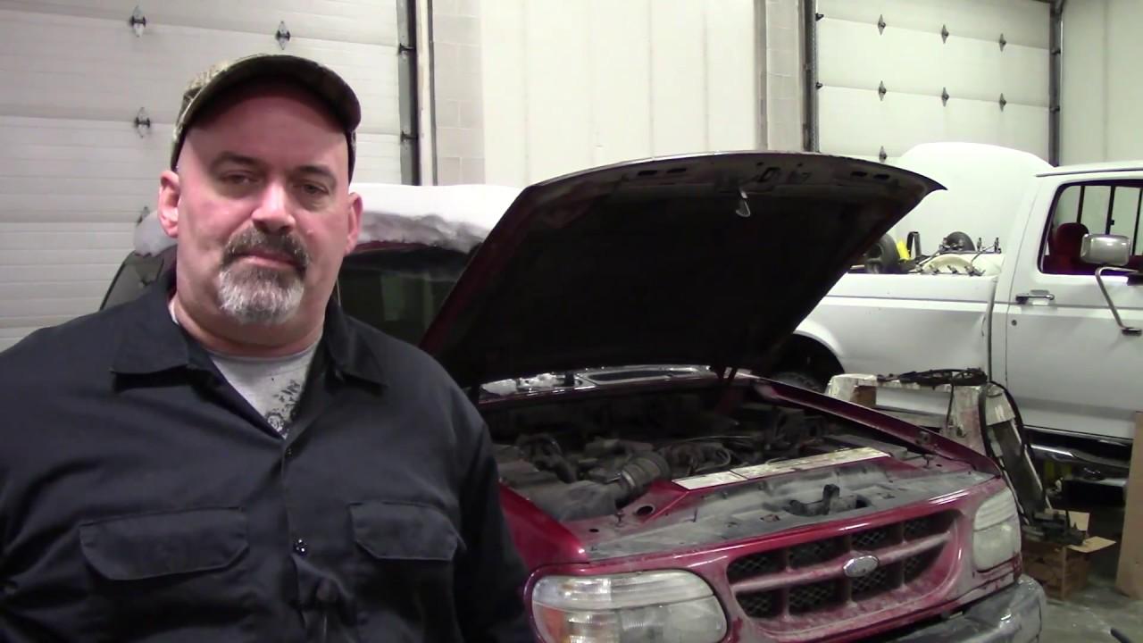 small resolution of ford explorer ac compressor bypass using shorter belt