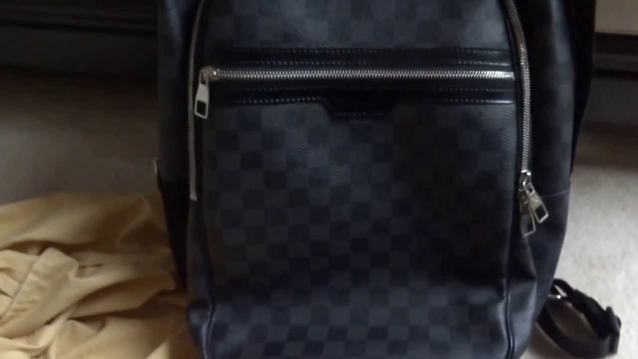 53afdf374402 UNBOXING Louis Vuitton Michael Backpack in Damier Graphite N58024 ...