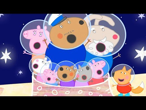 Peppa Pig Official Channel 🚀 Flying to the Moon in a Space Rocket to Find Peppa's Golden Boots