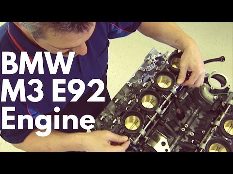 Watch how the E92 M3's V8 amazing engine was built