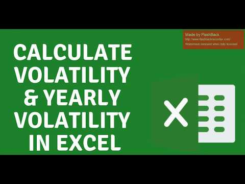 Calculate Volatility & Yearly Volatility In Excel (Bitcoin Volatility)
