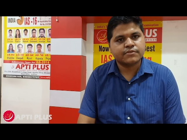 Mr Manoranjan Behera,AIR-826,IAS-2017 Student Of APTI PLUS