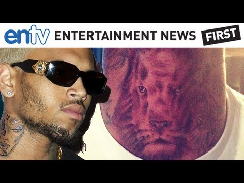 Chris Brown Chest Tattoo Meanings and Pictures of His ...  |Chris Brown Lion Neck Tattoos