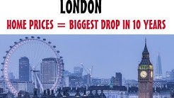 London, Biggest Home Price Drop in 10 Years, UK Housing Market Update, Big City = Price Correcrions