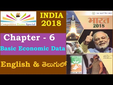 India year book 2018 || Chapter 6 - India: Basic Economic Data ||Telugu & English