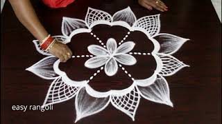 New friday kolams for varalakshmi vratham * easy & simple rangoli * small muggulu