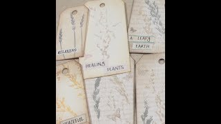 Easy Plant Printed Journalling Tags - A Coffee Break Tutorial!