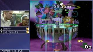 GSS 99 SSBM - Ses (Green Fox) vs. HoG | Tiramisu (Default Fox) - Melee WF