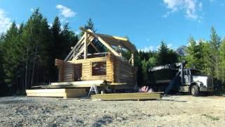 Log Cabin Setup July 2013 - In Scribe Log Homes - Timelapse
