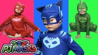 출동파자마삼총사 캣보이 도마배미 올빼미아로 변신! pj masks Transform ride car toys LimeTube & Toy