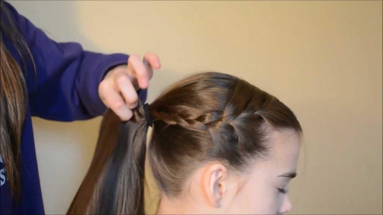 hope getting ready for a gymnastics meet hair