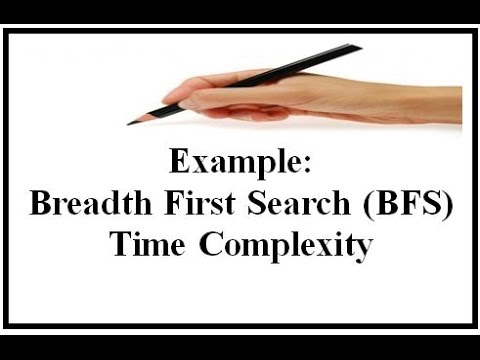 Example: Breadth First Search (BFS) Time Complexity