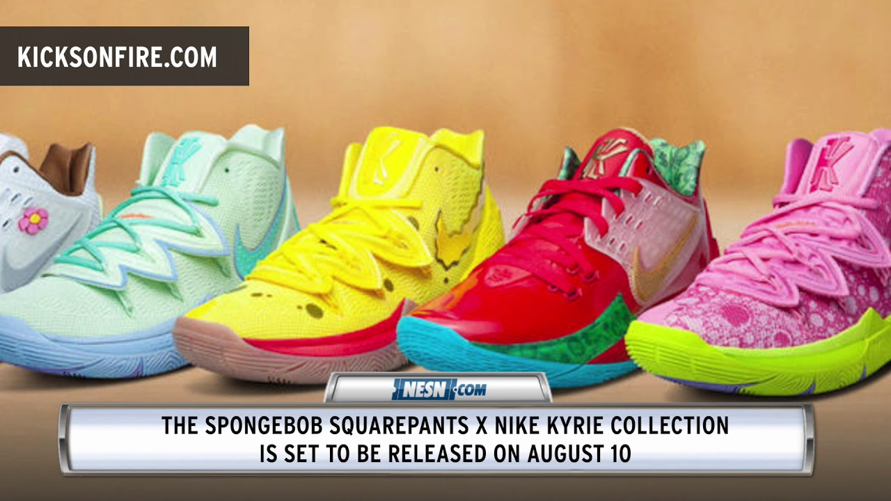 grava milicia otoño  Kyrie Irving Reveals Sneaker Collaboration With Nike And SpongeBob  SquarePants - YouTube