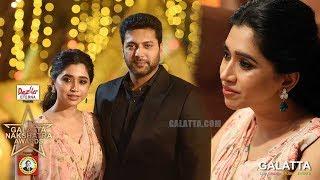 Aarti Ravi DAMAGING Jayam Ravi   Rare Red Carpet Moments   Galatta Nakshatra Awards