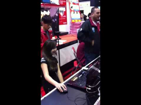 PMS Asterisk* At Toshiba Booth During Comex 2011