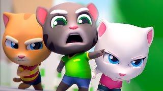 ГОВОРЯЩИЙ ТОМ ЗА ЗОЛОТОМ марафон #2 АНЖЕЛА ТОМ ДЖИНЖЕР Мультики Игровой мультик для детей #Котенок