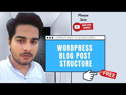Wordpress Create Post | Wordpress Blog Structure | Wordpress Categories & Tags
