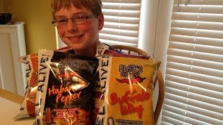 11-yr-old eats Death Rain chips (Habanero, Jalapeño, Buffalo Wing, Ancho Chili) : Crude Brothers