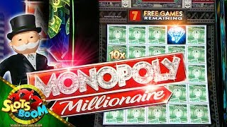 Monopoly Millionaire BONUSES!!! LIVE PLAY on 1c Bally Video Slot