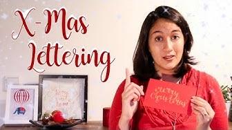 Weihnachtskarte mit Handlettering beschriften? So geht's [Kreative Ideen für Weihnachten]