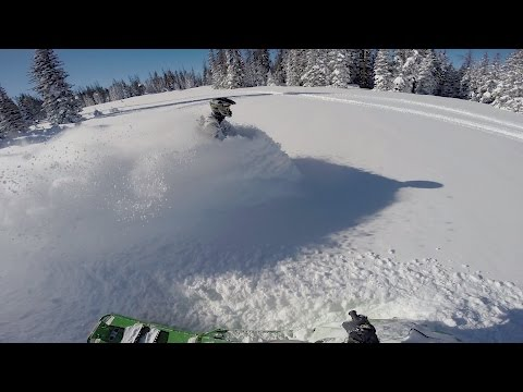 Snowmobile After Snow Storm At Snowy Range, WY  Jan 6 & 7 2017